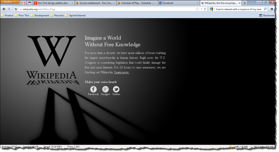 World without Free knowledge